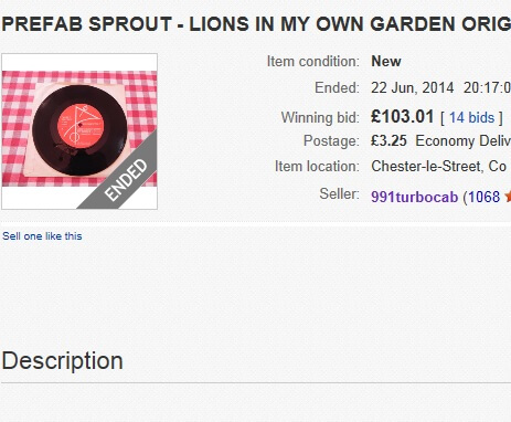 "Top 10 Sprout Collectibles. No. 2 – Candle Records ""Lions In My Own Garden"""