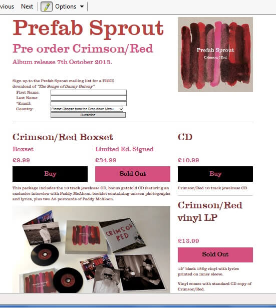Preorder Website