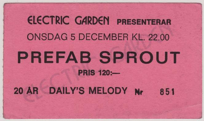 1990-12-05 Ticket Daily's Melody, Stockholm