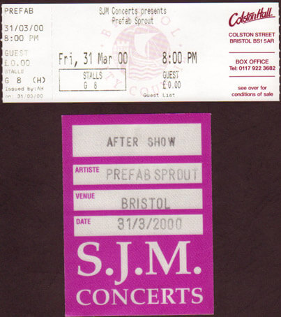 Bristol Colston Hall – March 31st 2000