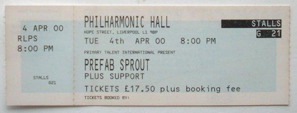 Liverpool Philharmonic – April 4th 2000