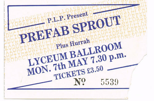 Lyceum Theatre, London: May 7th 1984