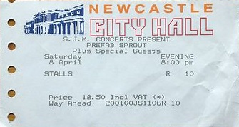 Newcastle City Hall – April 8th 2000