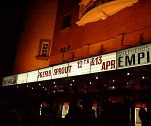Shepherds Bush Empire – April 13th 2000