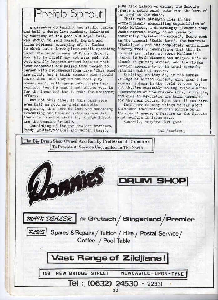 Early Fanzine Article