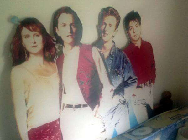 A life size cutout of the band, from the Langley Promotion