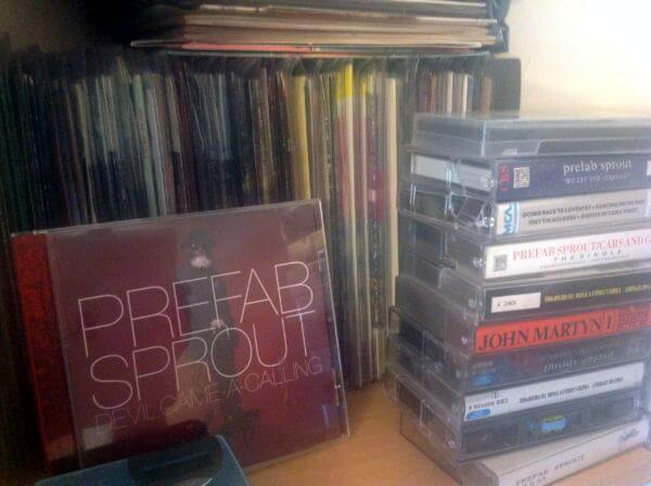 The singles section, which is also where random junk tends to pile up. The CD was a wonderful design for the Crimson/Red leak by Ron Lim. And the cassettes are mostly duplicates.